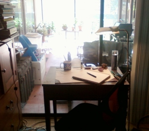 My bedroom writing space